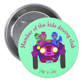 Conduzindo os miúdos pelos Feliz Juul Empresa Bóton Redondo 7.62cm
