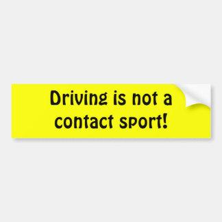 Conduzir não é um esporte de contato! adesivos