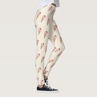 CONE DE GELADO LEGGING. CHOCOLATE STRAWBERY DA LEGGING