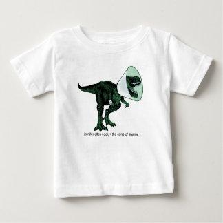Cone de T-Rex do bebê T da vergonha 2 Camiseta Para Bebê