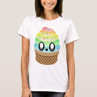 Cone do arco-íris do sorvete de Kawaii Camiseta