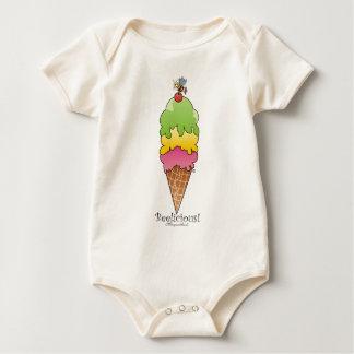 Cone do sorvete body para bebê