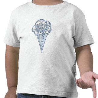 Cone do sorvete de Toille dos azuis bebés Camisetas