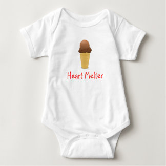 Cone do sorvete do chocolate de uma peça só tshirt