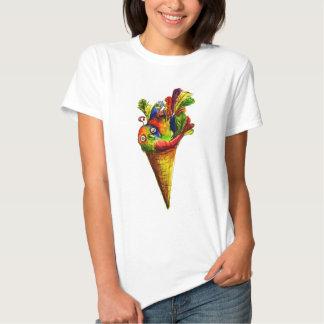 Cone do Tweet do gelo Camisetas