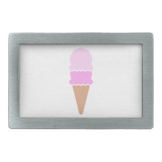Cone dobro do sorvete da colher - rosa