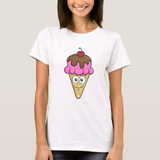 Cone Emoji do sorvete Camiseta