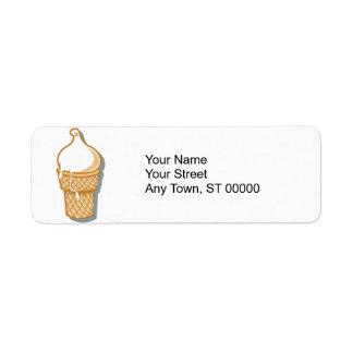 cone retro do sorvete etiqueta endereço de retorno