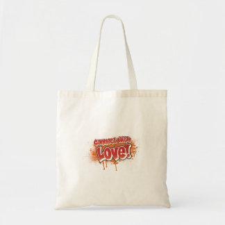 conecte com os grafites da laranja do amor bolsa para compras