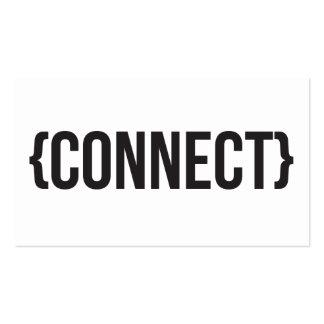 Conecte - suportado - preto e branco cartoes de visitas