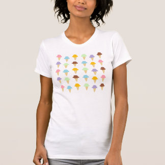 Cones coloridos do sorvete camiseta