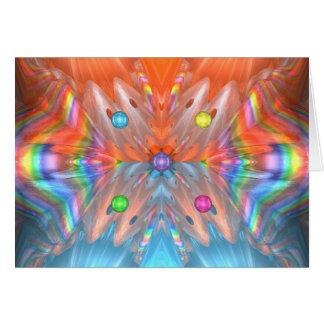 Cones do arco-íris cartão comemorativo