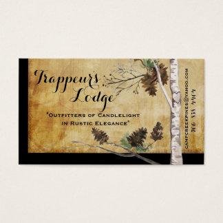 Cones do pinho e cartões de visitas Textured