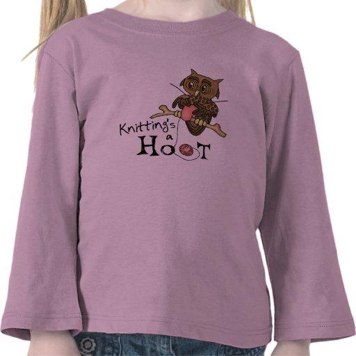 Confecção de malhas da coruja t-shirts