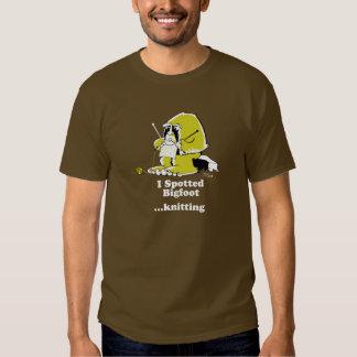 Confecção de malhas de Bigfoot T-shirts