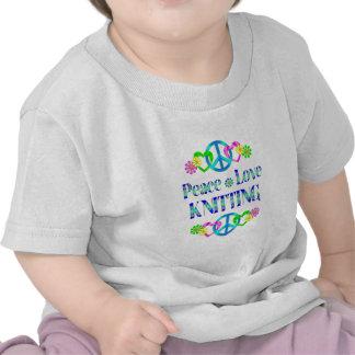 Confecção de malhas do amor da paz t-shirt