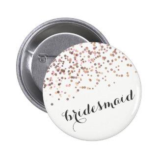 Confetes da dama de honra do botão da festa de bóton redondo 5.08cm