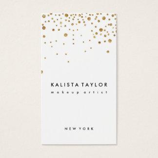 Confetes da folha de ouro cartão de visitas