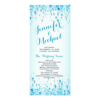 Confetes do azul do Aqua do programa | do 10.16 X 22.86cm Panfleto