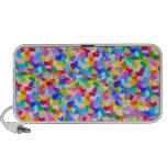 Confetes do coração do arco-íris caixinha de som para iPhone