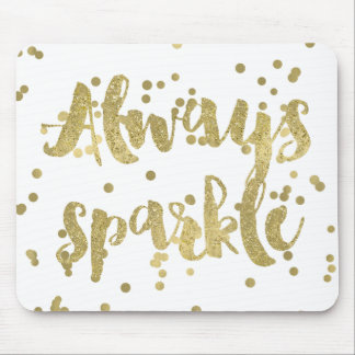 Confetes do ouro da faísca mousepad