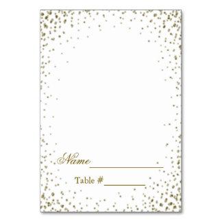 Confetes do ouro do cartão do lugar do casamento