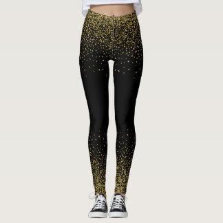 Confetes do ouro no preto legging