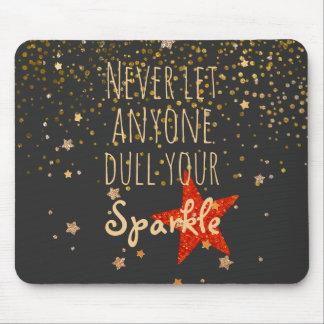 Confetes femininos inspirados do ouro das citações mousepad