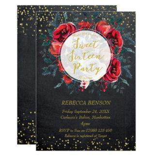 Confetes florais do ouro do inverno do convite do
