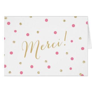 Confetes Merci do brilho Cartão Comemorativo