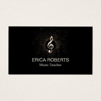Confetes modernos musicais do Clef do ouro do Cartão De Visitas