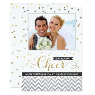 Confetes pretos dos cartões com fotos   Chevron do