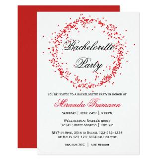Confetes vermelhos - convite da festa de solteira