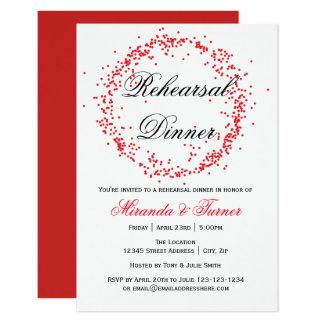 Confetes vermelhos - convite do jantar de ensaio