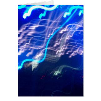 Confeti elétrico cartão comemorativo