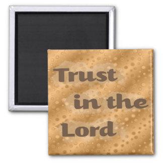 Confiança abstrata do ouro no senhor Cristão Ímã Ima De Geladeira