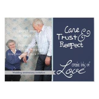 Confiança bonito do amor da foto do aniversário de convite 12.7 x 17.78cm