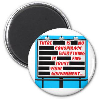 Confiança do quadro de avisos seu governo ímã redondo 5.08cm
