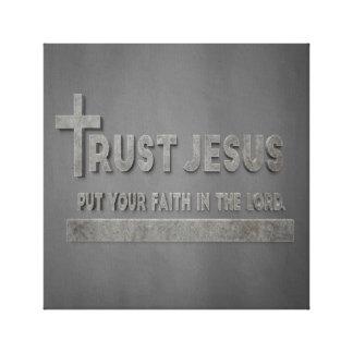 Confiança Jesus - pnha sua fé no senhor Canvas