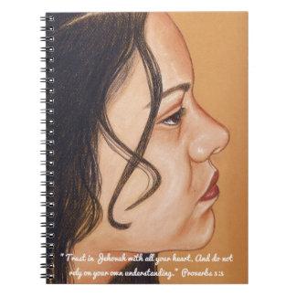 Confiança no caderno da escritura de Jehovah