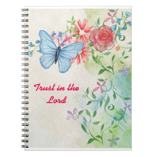 Confiança no senhor Caderno