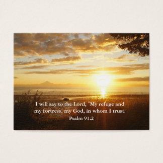 Confiança no senhor Cristão Inspiração Cartão