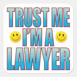 Confie-me a vida B do advogado Adesivo Quadrado