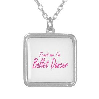 Confie-me, mim são dançarino de balé colares personalizados