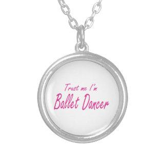 Confie-me, mim são dançarino de balé colar personalizado