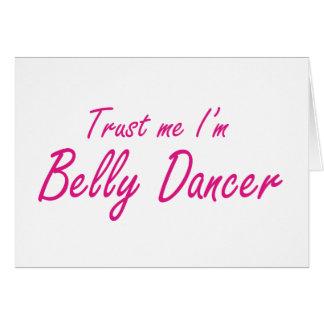 Confie-me mim são dançarino de barriga cartões