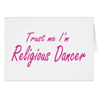 Confie-me, mim são dançarino religioso cartoes