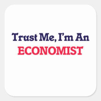Confie-me, mim são um economista adesivo quadrado