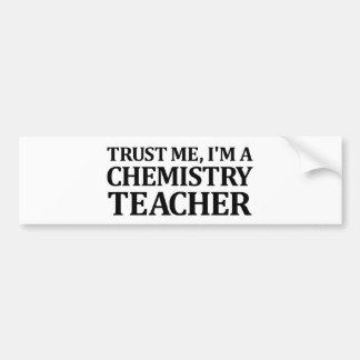 Confie-me, mim são um professor da química adesivo para carro
