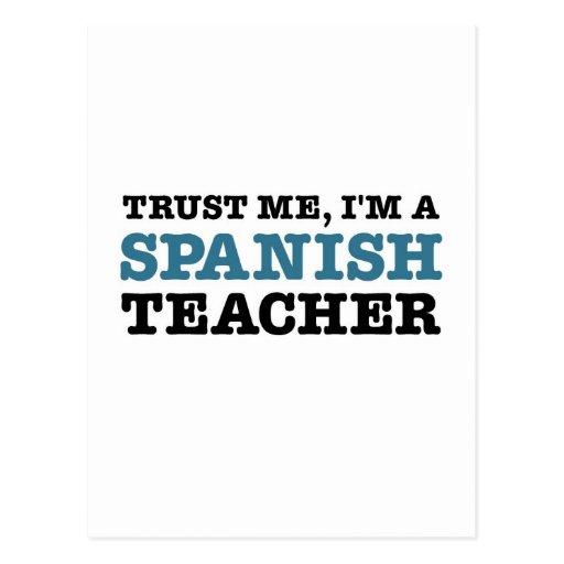 Confie-me, mim são um professor espanhol cartão postal